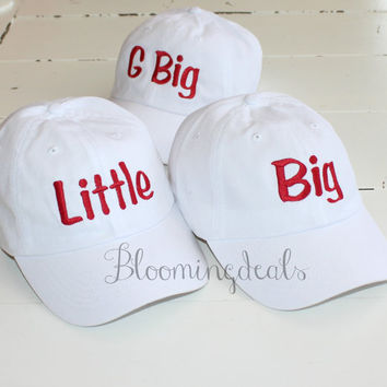 Sorority Baseball Cap Big-Lil Custom Embroidery Hat Bloomingdeals bio washed