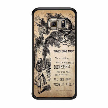 alice in wonderland bonkers case for samsung galaxy s6 s6 edge