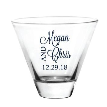 Stemless martini glasses, personalized wedding favors, customized just for you!