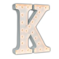 """24"""" Letter K Lighted Marquee Letters (White Gloss)"""