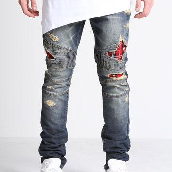 Biker Denim (Ripped Flannel)