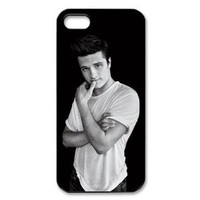 Josh Hutcherson iPhone 5 Case Black and White iPhone 5 Case
