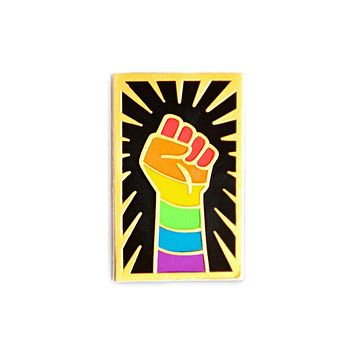 LGBTQ Resist Fist Pin