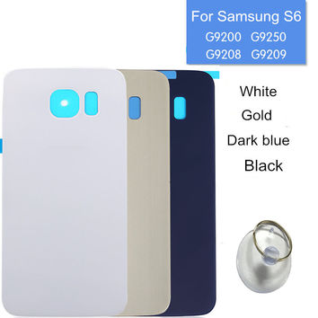Replacement For Samsung Galaxy S6 G9200 G920 Glass Back Cover Housing Battery Door & Suction Cup, Free Shipping&Tracking Number