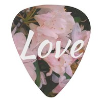 Cool white and Pink flower textured background Guitar Pick