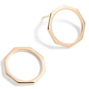 J.Crew Delicate Hexagon Earrings | Nordstrom