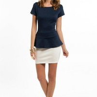 Peplum Anne Top $23