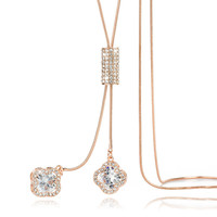New Women Long Sweater Chain Necklaces Crystal Flower Y Shape Pendant Necklace All match Jewelry C482-in Pendant Necklaces from Jewelry & Accessories on Aliexpress.com | Alibaba Group