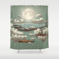 Ocean Meets Sky Shower Curtain by Terry Fan