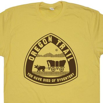 The Oregon Trail T Shirt Vintage Gaming Shirt Computer Geek T Shirt 80s Tees