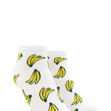 Banana Print Ankle Socks