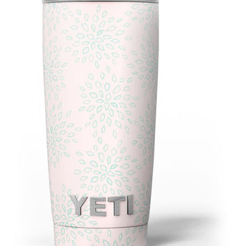 The Pink and Mint Floral Sprout Yeti Rambler Skin Kit