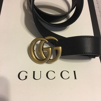 Gucci Marmont Belt. Black, Size 90. New Without Tags.
