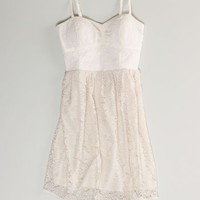 AEO Women's Embroidered Corset Dress