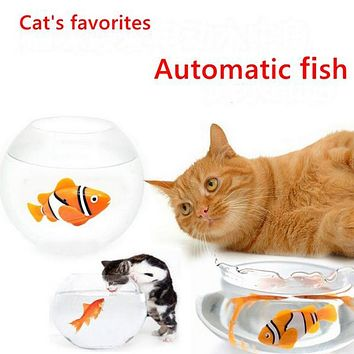Funny Cat Toy Simulation Fish Battery-Powered Fish, Water Robot, Cat Toy, Water Activated Robo Fish, Keep Your Cats Entertained