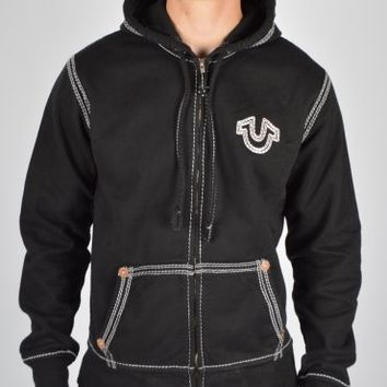 True Religion Horseshoe QT Zip Hoodie - Black