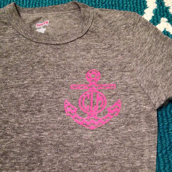 Chevron Anchor with Monogram Shirt