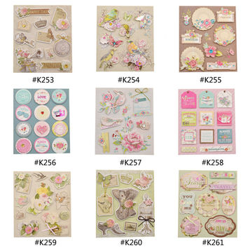 Fashion Vintage Deocrative Sticker 3D Adhesive Stickers DIY Scrapbooking Paper Craft