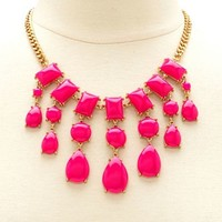 Beaded Teardrop Short Necklace: Charlotte Russe