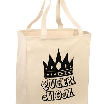 Queen Mom Large Grocery Tote Bag