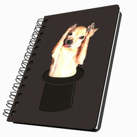 Chihuahua in Top Hat Medium Acrylic Journal