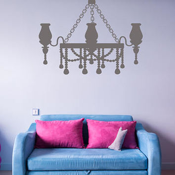 Chandelier  Wall Decal, Chandelier Bedroom Sticker, Chandelier Nursery Room Wall Decor Art, Princess Room Art Decor, Girls Room Decor  nm019