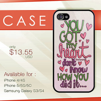 Ariana Grande Lyric Cover hard plastic available for iphone 4/4s,5/5s/5c and samsung galaxy S3/S4/S5 case