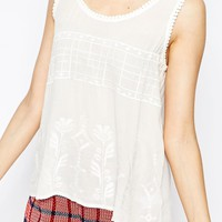 Harlyn Lace Detail Sleeveless Singlet
