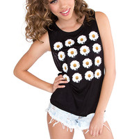 Fanatic Daisy Top - Black