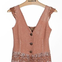 Gimmicks By BKE Crochet Trim Vest