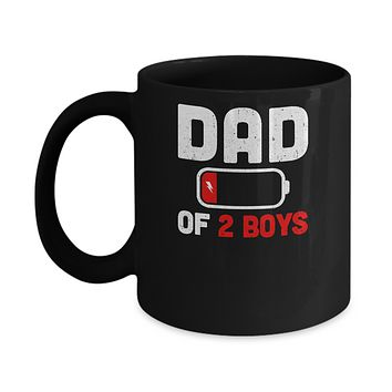 Funny Dad Of 2 Boys Fathers Day Gifts Mug