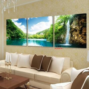 canvas decorative pictures for wall art paintings oil modular painting printed on bilder modern 3 piece home picture decoration