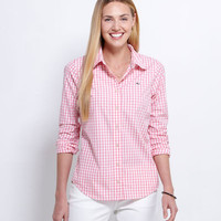Women's Button Down Shirts: Gingham Women's Shirt – Vineyard Vines