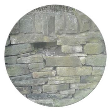 Old Wall, Stone, Bricks Party Plates