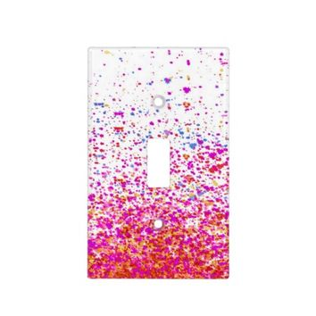 sparkly pink light switch cover