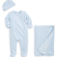 Infant Boy's Nordstrom Baby 'Take Me Home' Heathered One-Piece, Hat & Blanket