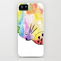 My Rainbow Totoro iPhone & iPod Case by Alisha Ann