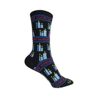 Happy Hanukkah Crew Socks in Black