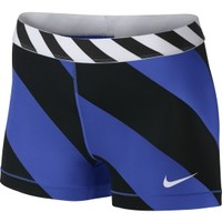 Nike Women's 3'' Pro Diagonal Stripe Compression Shorts