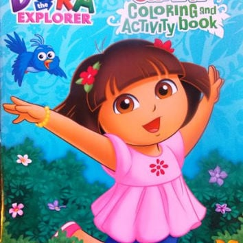"""Giant 11"""" X 15"""" Coloring & Activity Book 24 Pages!!! Dora the Explorer!"""