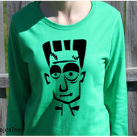 Frankenstein Halloween Shirt, Long Sleeve Shirt, Womens