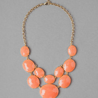 Oahu Bubble Necklace In Peach