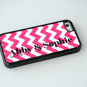 Geometric Phone Case, Personalized Phone Case, iPhone 6 Case, iPhone 6 Plus, 6+ Case, Chevron, Gift for Parents, Best Friends, Couples