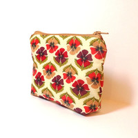 Small Zipper Pouch Small Wallet Cosmetic Pouch  Liberty of London Pansies