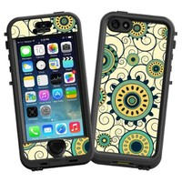 """Swirls Yellow """"Protective Decal Skin"""" for LifeProof nuud iPhone 5s Case"""