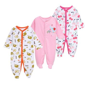 3Pcs Baby Rompers Spring Baby Girl Clothes Cotton Baby Boy Clothing Newborn Baby Clothes Roupas Bebe Fashion Infant Jumpsuits