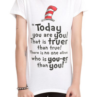 Dr. Seuss Today You Are You Girls T-Shirt 3XL
