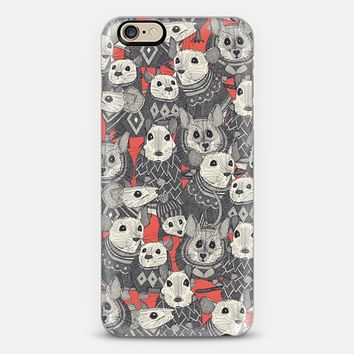 sweater mice coral red iPhone 6s case by Sharon Turner   Casetify