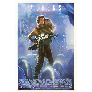 Vintage Classic Aliens Movie Poster//Classic Movie Poster/Movie Poster//Poster Reprint//Home Decor//Wall Decor//Vintage Art
