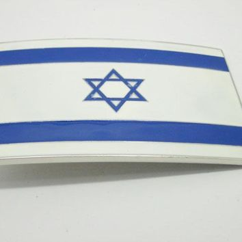 Israel Flag Belt Buckle